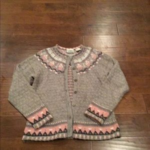 Northern Reflections girls medium cardigan sweater